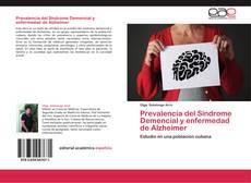 Portada del libro de Prevalencia del Síndrome Demencial y enfermedad de Alzheimer