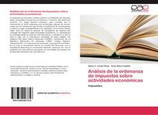 Bookcover of Análisis de la ordenanza de impuestos sobre actividades económicas
