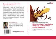 Buchcover von Mejora de las propiedades térmicas de bloques de arcilla aligerada