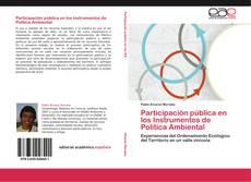 Bookcover of Participación pública en los Instrumentos de Política Ambiental
