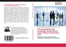 Обложка Peculiaridades del Lenguaje Corporativo. Caso: Pfizer Venezuela, S.A