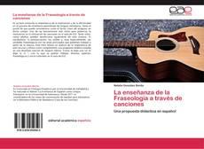 Copertina di La enseñanza de la Fraseología a través de canciones