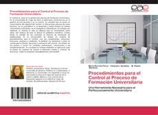 Bookcover of Procedimientos para el Control al Proceso de Formación Universitaria