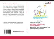 Couverture de Gestión educativo-institucional