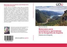 Portada del libro de Materiales para enseñanza y aprendizaje de la Geografía de España