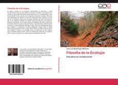 Couverture de Filosofía de la Ecología