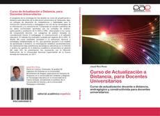 Buchcover von Curso de Actualización a Distancia, para Docentes Universitarios