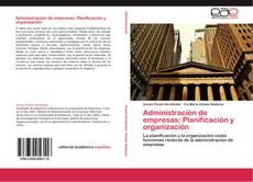 Bookcover of Administración de empresas: Planificación y organización