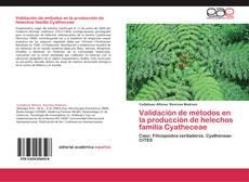 Validación de métodos en la producción de helechos familia Cyatheceae的封面