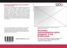Portada del libro de Acciones metodológicas para preparar a los profesores