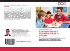 Buchcover von La enseñanza de la expresión oral en la escuela