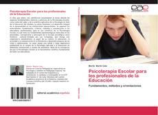 Psicoterapia Escolar para los profesionales de la Educación