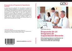 Capa do livro de Propuesta de un Programa de Capacitación Docente