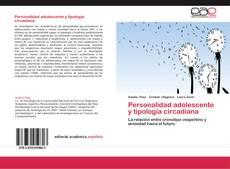 Copertina di Personalidad adolescente y tipología circadiana