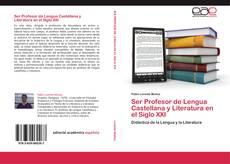 Capa do livro de Ser Profesor de Lengua Castellana y Literatura en el Siglo XXI