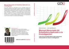Portada del libro de Manual Abreviado de Estadística Aplicado a la Investigación