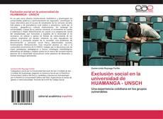 Portada del libro de Exclusión social en la universidad de  HUAMANGA - UNSCH