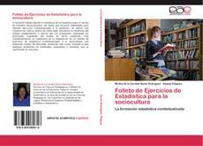 Folleto de Ejercicios de Estadística para la sociocultura kitap kapağı