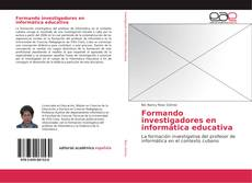 Capa do livro de Formando investigadores en informática educativa