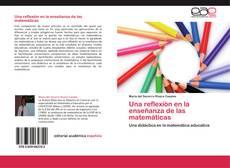 Buchcover von Una reflexión en la enseñanza de las matemáticas
