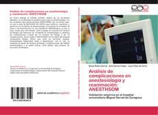 Análisis de complicaciones en anestesiología y reanimación: ANESTHSOM的封面