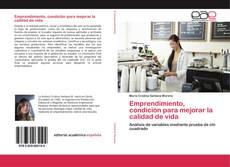 Portada del libro de Emprendimiento, condición para mejorar la calidad de vida