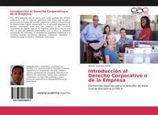 Portada del libro de Introducción al Derecho Corporativo o de la Empresa