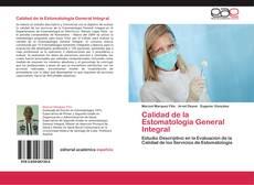 Portada del libro de Calidad de la Estomatología General Integral