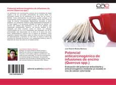Capa do livro de Potencial anticarcinogénico de infusiones de encino (Quercus spp.)