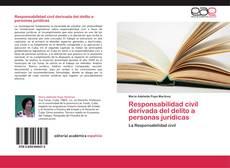 Bookcover of Responsabilidad civil derivada del delito a personas jurídicas