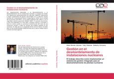 Borítókép a  Gestión en el desmantelamiento de instalaciones nucleares - hoz