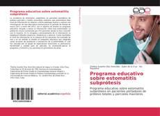 Bookcover of Programa educativo sobre estomatitis subprótesis