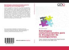 Buchcover von Estrategias comunicacionales para la divulgación de investigaciones