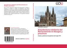 Portada del libro de Arquitectura nobiliaria del Renacimiento en Burgos y provincia