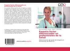 Buchcover von Empatía factor diferenciador en profesionales de la Salud