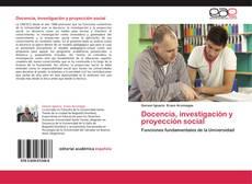 Docencia, investigación y proyección social kitap kapağı