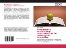 Bookcover of Rendimiento académico y características del instrumento evaluativo