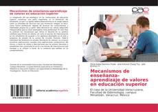 Mecanismos de enseñanza-aprendizaje de valores en educación superior的封面
