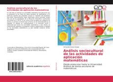 Buchcover von Análisis sociocultural de las actividades de aplicación matemáticas