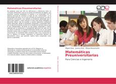 Bookcover of Matemáticas Preuniversitarias
