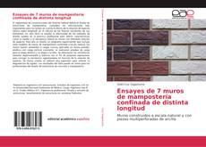 Portada del libro de Ensayes de 7 muros de mampostería confinada de distinta longitud