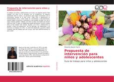 Portada del libro de Propuesta de intervención para niños y adolescentes