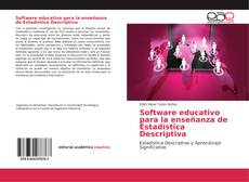 Buchcover von Software educativo para la enseñanza de Estadística Descriptiva