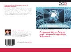 Capa do livro de Programación en Octave para cursos de Ingeniería. Volumen 1