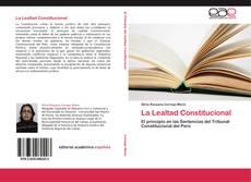 Capa do livro de La Lealtad Constitucional