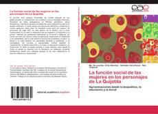 Bookcover of La función social de las mujeres en los personajes de La Quijotita