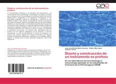 Bookcover of Diseño y construcción de un instrumento ex profeso