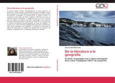 Capa do livro de De la literatura a la geografia