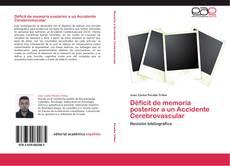 Déficit de memoria posterior a un Accidente Cerebrovascular kitap kapağı
