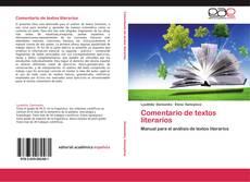Bookcover of Comentario de textos literarios